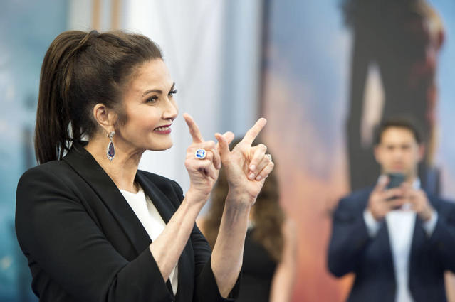 "<p>Carter starred in the classic 1970s TV series of ""Wonder Woman."" ""Wonder Woman is much more than a cartoon character,"" <a href=""http://variety.com/2016/tv/news/lynda-carter-wonder-woman-gal-gadot-1201884326/"" rel=""nofollow noopener"" target=""_blank"" data-ylk=""slk:she told Variety last year"" class=""link rapid-noclick-resp"">she told Variety last year</a>. ""She's fighting for truth and justice and the secret self that exists in all women and girls. There's a moral fiber and a goodness about her that all women have."" (Photo: Valeria Macon/AFP/Getty Images) </p>"