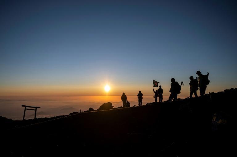 Watching the sun rise from the peak of Mount Fuji is a dream for many climbers in Japan and beyond