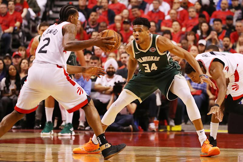 The makers of NBA 2K20 believe that Giannis Antetokuonmpo still has some work to do. (Getty)