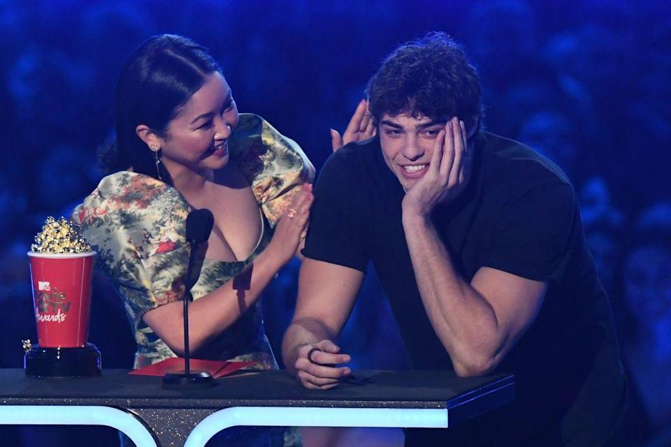 <p>Centineo thanked 'Lana's lips' while accepting the Best Kiss award for To All The Boys I've Loved Before.</p>
