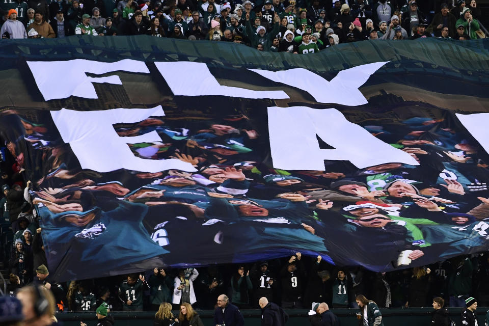The Eagles will not be allowed to have fans, the city of Philadelphia said on Tuesday. ( Corey Perrine/Getty Images)
