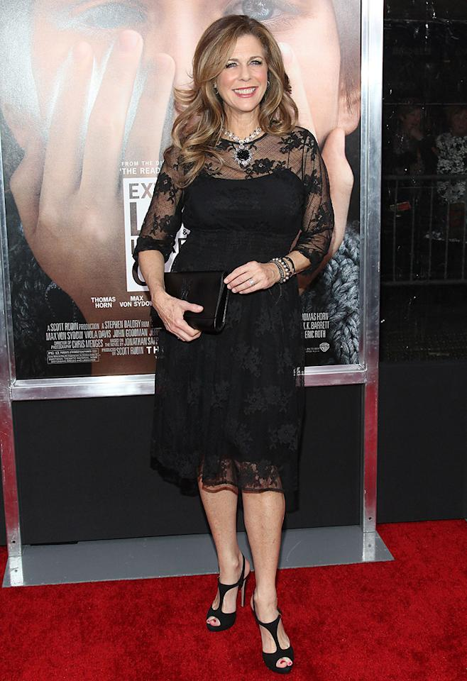 """<a href=""""http://movies.yahoo.com/movie/contributor/1800019302"""">Rita Wilson</a> at the New York City premiere of <a href=""""http://movies.yahoo.com/movie/1810196550/info"""">Extremely Loud and Incredibly Close</a> on December 15, 2011."""