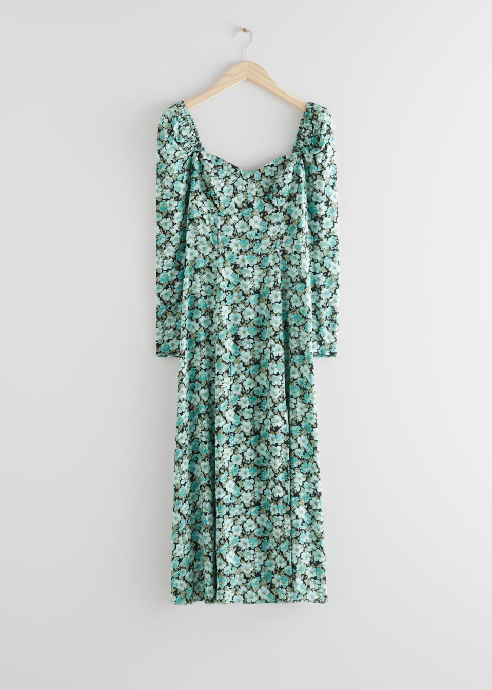 <p>The floral print of this <span>&amp; Other Stories Puff Sleeve Midi Dress</span> ($36, originally $119) makes it perfect for spring.</p>