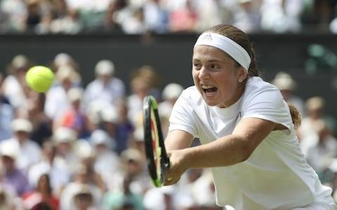 <span>Ostapenko saves a match point to keep fighting</span> <span>Credit: Getty Images </span>