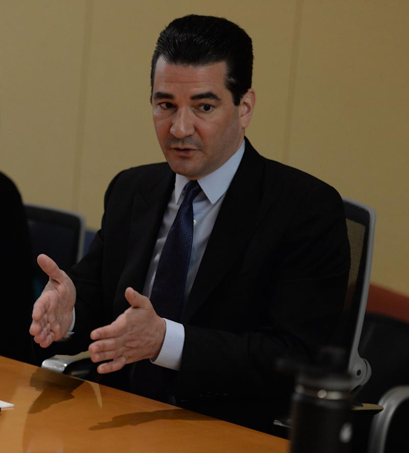Food and Drug Administration Commissioner Dr. Scott Gottlieb is shown speaking to the USA TODAY editorial board on November 14, 2018.