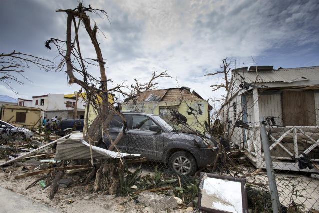 <p>Storm damage in the aftermath of Hurricane Irma, in St. Maarten, Sept. 7, 2017. (Photo: Gerben Van Es/Dutch Defense Ministry via AP) </p>