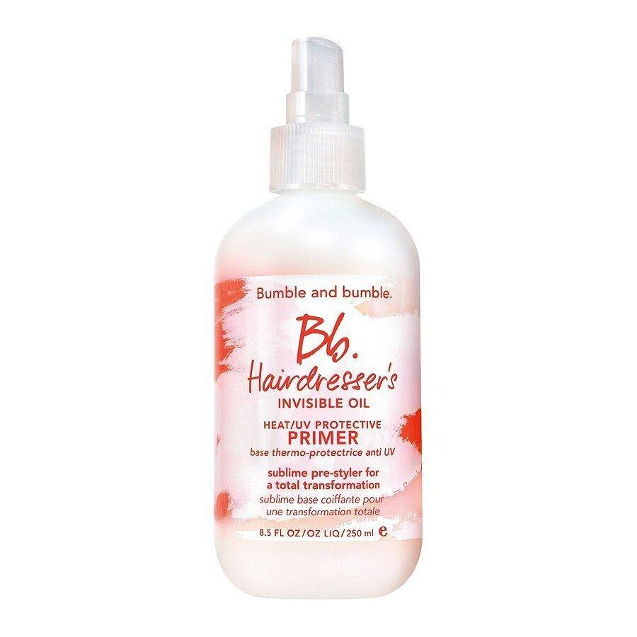 """Bumble and Bumble's Bb. Hairdresser's Invisible Oil Heat/UV Protective Primer was literally made to be the first line of defense against damage. A blend of <a href=""""https://www.allure.com/story/grapeseed-oil-skin-care-benefits?mbid=synd_yahoo_rss"""" rel=""""nofollow noopener"""" target=""""_blank"""" data-ylk=""""slk:grapeseed"""" class=""""link rapid-noclick-resp"""">grapeseed</a>, coconut, and safflower seed oils work harmoniously to moisturize hair and block UV rays — all without adding extra weight to your braids. The primer also doubles as a heat protectant if you decide to <a href=""""https://www.allure.com/gallery/best-blow-dryers-for-curly-hair?mbid=synd_yahoo_rss"""" rel=""""nofollow noopener"""" target=""""_blank"""" data-ylk=""""slk:blow-dry"""" class=""""link rapid-noclick-resp"""">blow-dry</a> your wig or weave after rinsing."""