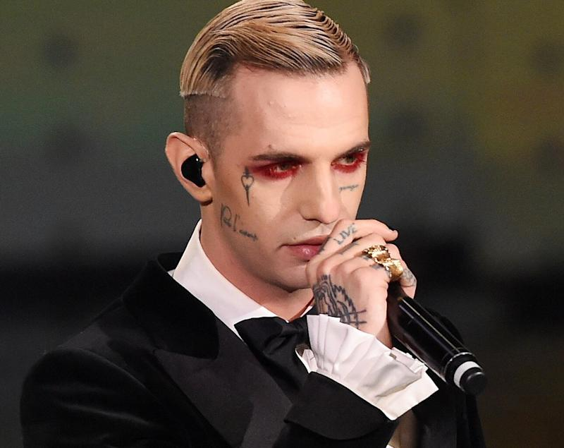 MILAN, ITALY - FEBRUARY 09: Singer Achille Lauro performs live at Che Tempo Che Fa TV Show on February 09, 2020 in Milan, Italy. (Photo by Stefania D'Alessandro/Getty Images) (Photo: Stefania D'Alessandro via Getty Images)