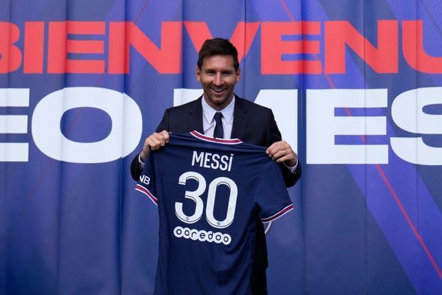 Lionel Messi joined PSG on a two-year deal with the option of a further season