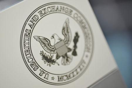 FILE PHOTO: The U.S. Securities and Exchange Commission logo adorns an office door at the SEC headquarters in Washington, June 24, 2011. REUTERS/Jonathan Ernst/File Photo