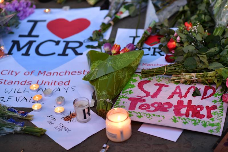 A memorial at Manchester Arena (AFP/Getty Images)