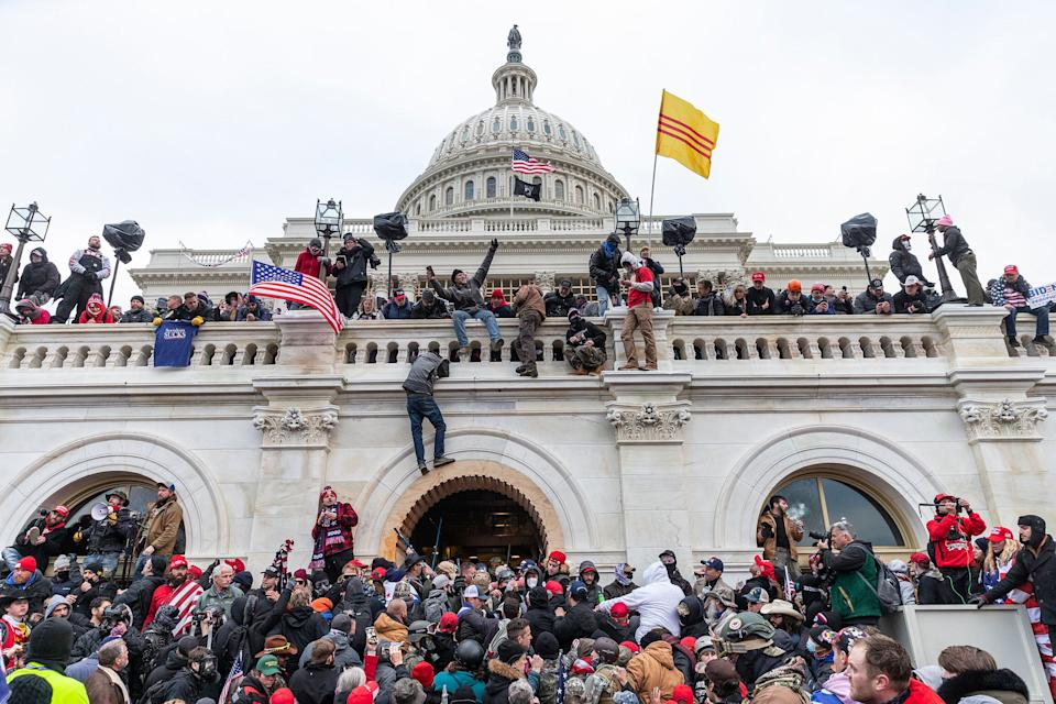 Pro-Trump supporters riot and breach the U.S. Capitol on Jan. 6 in an attempt to overthrow the results of the 2020 presidential election. (Photo: Lev Radin/Pacific Press/LightRocket via Getty Images)