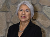 This undated photo provided by Adonis Alamban shows Colorado River Indian Tribes Chairwoman Amelia Flores. The tribe based in Parker, Arizona, has played an outsized role in Arizona to help keep Lake Mead from falling to drastically low levels. Still, Arizona is expected to face the first-ever mandatory cuts to its Colorado River water supply in 2022. (Adonis Alamban via AP)