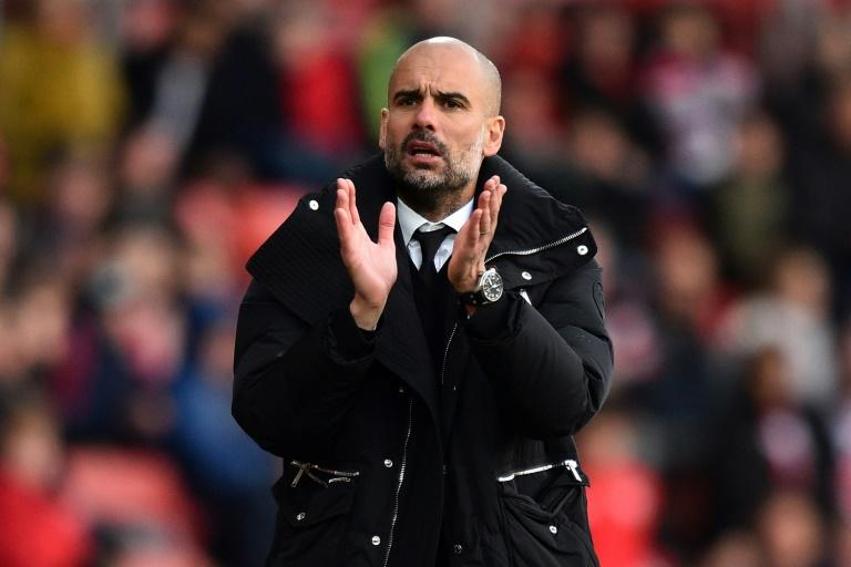 Manchester City's manager Pep Guardiola is set to end a season without a trophy for the first time as a manager