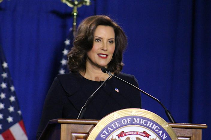 Joe Biden saluted Gov. Gretchen Whitmer for the way she handled coronavirus in Michigan.
