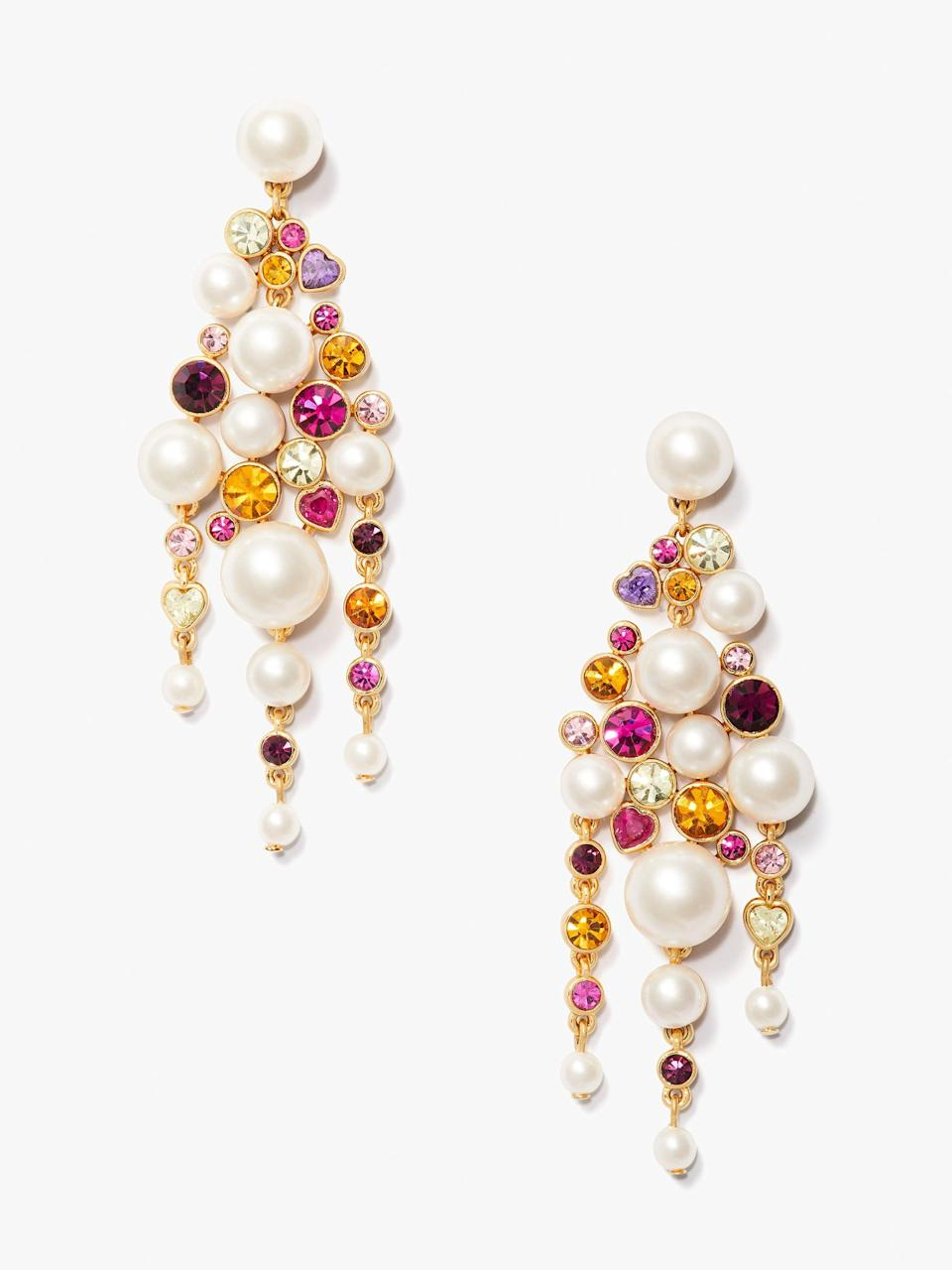 <p>Wow, these <span>Pearl Caviar Statement Earrings</span> ($128) are major eye candy. The design is pretty much guaranteed to get compliments.</p>