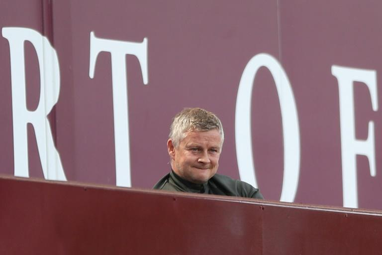 Proud boss - Manchester United manager Ole Gunnar Solskjaer looks on during a 3-1 win away to Aston Villa
