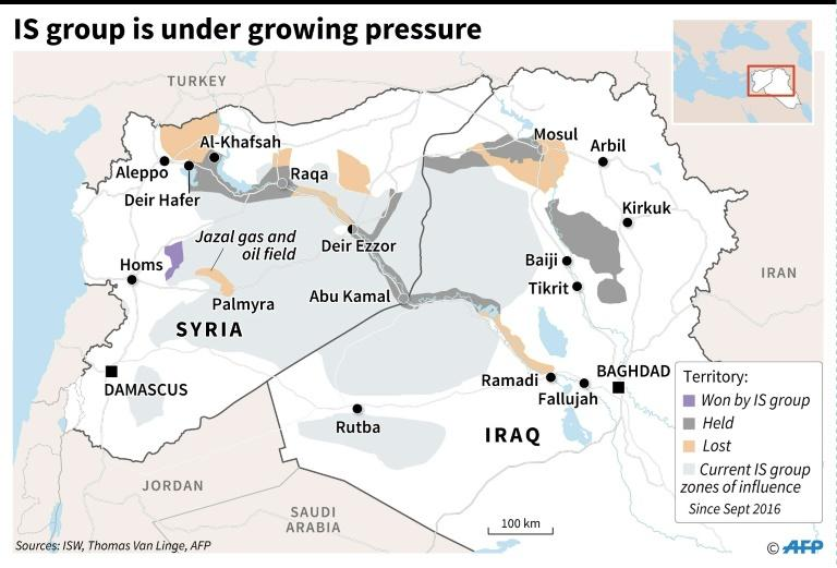 The Islamic State group is under growing pressure