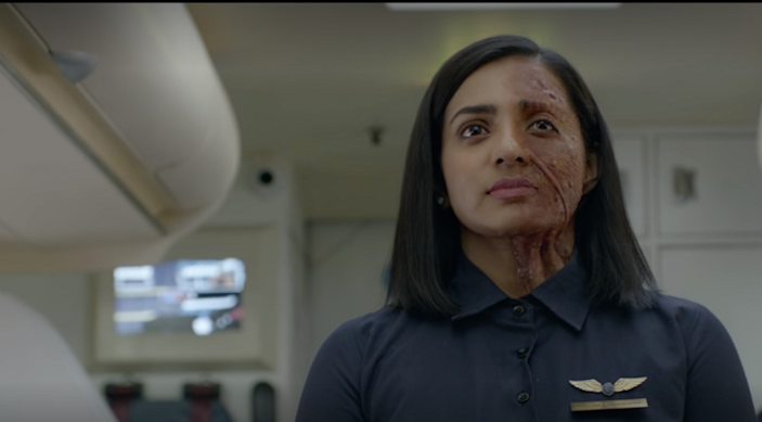 Parvathy Thiruvoth plays the protagonis, Pallavi Raveendran, in Uyare. (Image is a screenshot from the film, which is available on Netflix)