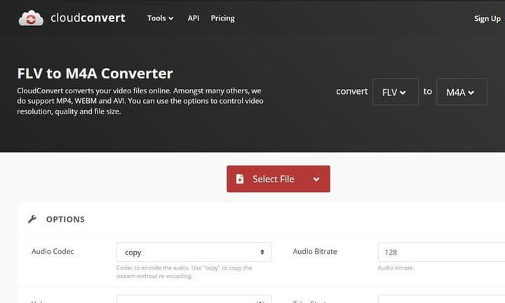 convertir FLV en MP4 cloud convert