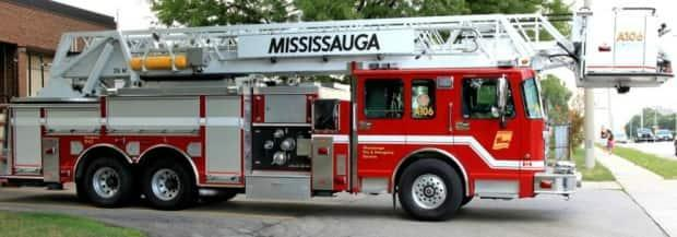 A basement fire in a Mississauga home sent seven people to hospital on Saturday morning. Twelve people total were displaced by the fire, which is now out. (Facebook - image credit)