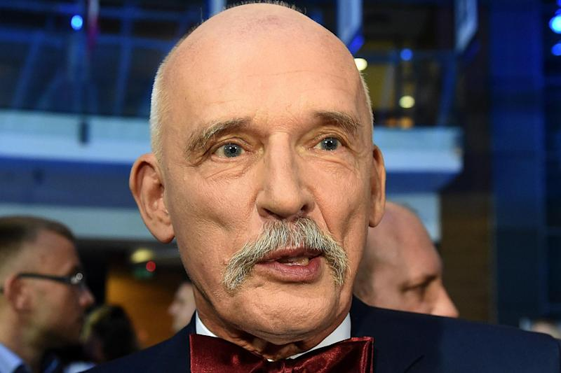 Backlash: Polish MEP Janusz Korwin-Mikke has suffered a backlash for his sexist comments: AFP/Getty Images