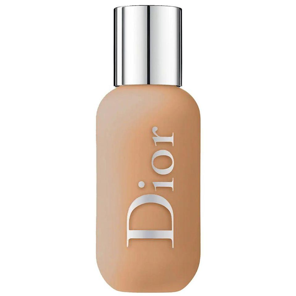 """<p><strong>Dior</strong></p><p>sephora.com</p><p><strong>$40.00</strong></p><p><a href=""""https://go.redirectingat.com?id=74968X1596630&url=https%3A%2F%2Fwww.sephora.com%2Fproduct%2Fbackstage-face-body-foundation-P432500&sref=https%3A%2F%2Fwww.bestproducts.com%2Fbeauty%2Fg30744763%2Fleg-makeup-products%2F"""" rel=""""nofollow noopener"""" target=""""_blank"""" data-ylk=""""slk:Shop Now"""" class=""""link rapid-noclick-resp"""">Shop Now</a></p><p>When it comes to shade range, this backstage classic just can't be beaten. Its light-to-full buildable coverage comes in a whopping 40 shades to choose from, so choosing the right color for your skin tone is easier than ever. </p><p>But that's not the only reason why this body-face foundation hybrid is one of our beauty editor's favorites. It's also waterproof <em>and</em> sweat-resistant, plus its formula doesn't streak or fade for hours on end. But, most importantly, you can own something Dior for less than $50 — does it get any better than that?</p>"""