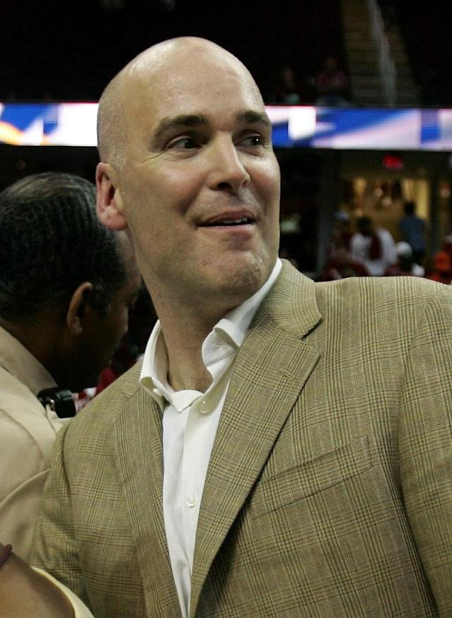 Danny Ferry, pictured on June 2, 2007, stepped down as general manager of the Atlanta Hawks after a 10-month leave of absence following the public release of him making racist remarks (AFP Photo/Jonathan Daniel)
