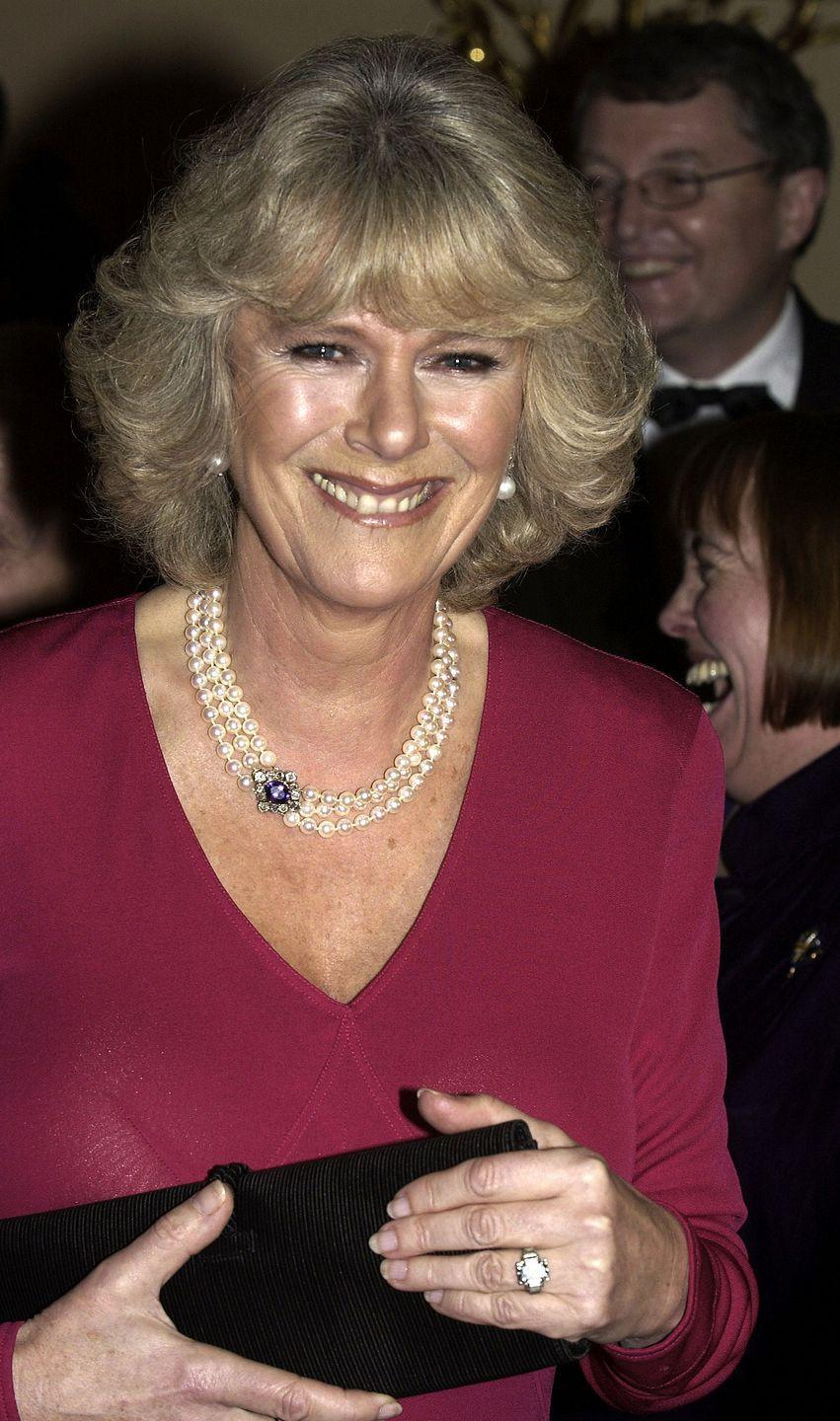 <p>Prince Charles proposed to Camilla with a diamond ring that was previously owned by his grandmother, the Queen Mother. It boasts a five-carat emerald-cut diamond in an Art Deco setting. It is believed to have been given to her after welcoming her first child, now the Queen.</p>