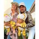 """<p>When the wild story of Carole Baskin and Joe Exotic hit Netflix, none of us could look away. If there had to be one outstanding pop-culture figure, the two of them would fight for the title. </p><p>Lucky for you, the costume is rather easy to pull off (think <a href=""""https://www.amazon.com/Floral-Fall-Headband-Festival-F-01/dp/B01EH9LHRO?tag=syn-yahoo-20&ascsubtag=%5Bartid%7C2089.g.22530616%5Bsrc%7Cyahoo-us"""" rel=""""nofollow noopener"""" target=""""_blank"""" data-ylk=""""slk:flower headband"""" class=""""link rapid-noclick-resp"""">flower headband</a> and <a href=""""https://www.amazon.com/Sequin-Cosplay-Vintage-Halloween-Costume/dp/B089DCCWZV/?tag=syn-yahoo-20&ascsubtag=%5Bartid%7C2089.g.22530616%5Bsrc%7Cyahoo-us"""" rel=""""nofollow noopener"""" target=""""_blank"""" data-ylk=""""slk:over-the-top button down shirt"""" class=""""link rapid-noclick-resp"""">over-the-top button down shirt</a>) and you can easily dress-up your littles in adorable tiger onesies.</p><p><a class=""""link rapid-noclick-resp"""" href=""""https://www.amazon.com/s?k=tiger+onesie+toddler&ref=nb_sb_noss_2&tag=syn-yahoo-20&ascsubtag=%5Bartid%7C2089.g.22530616%5Bsrc%7Cyahoo-us"""" rel=""""nofollow noopener"""" target=""""_blank"""" data-ylk=""""slk:SHOP THE LOOKS"""">SHOP THE LOOKS</a></p><p><strong>Instagram:</strong> <a href=""""https://www.instagram.com/p/B-dRa9-lYgR/"""" rel=""""nofollow noopener"""" target=""""_blank"""" data-ylk=""""slk:@jadelizroper"""" class=""""link rapid-noclick-resp"""">@jadelizroper</a></p>"""