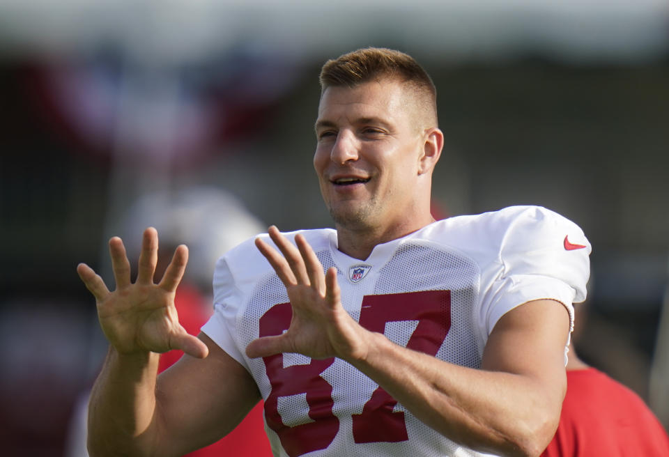 Tampa Bay Buccaneers tight end Rob Gronkowski, not a film watcher. (AP Photo/Chris O'Meara)