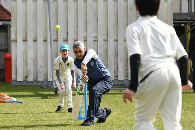 Mayor of London Sadiq Khan was speaking at an event at Kingstonian Cricket Club (Stefan Rousseau/PA)