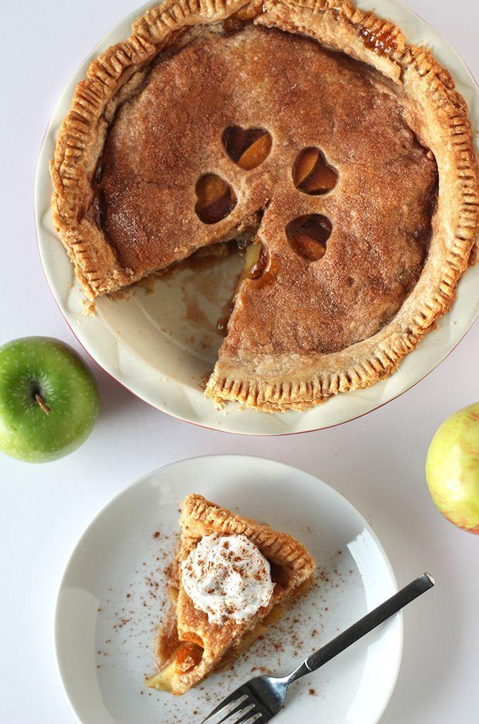 """<p>Yep, that beautiful crust came together with vegan butter—not that your mother-in-law will believe you.</p><p><strong>Get the recipe at <a href=""""http://sweetlikecocoa.com/best-ever-vegan-apple-pie/"""" rel=""""nofollow noopener"""" target=""""_blank"""" data-ylk=""""slk:Sweet Like Cocoa"""" class=""""link rapid-noclick-resp"""">Sweet Like Cocoa</a>.</strong> </p>"""