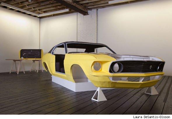 Paper Ford Mustang