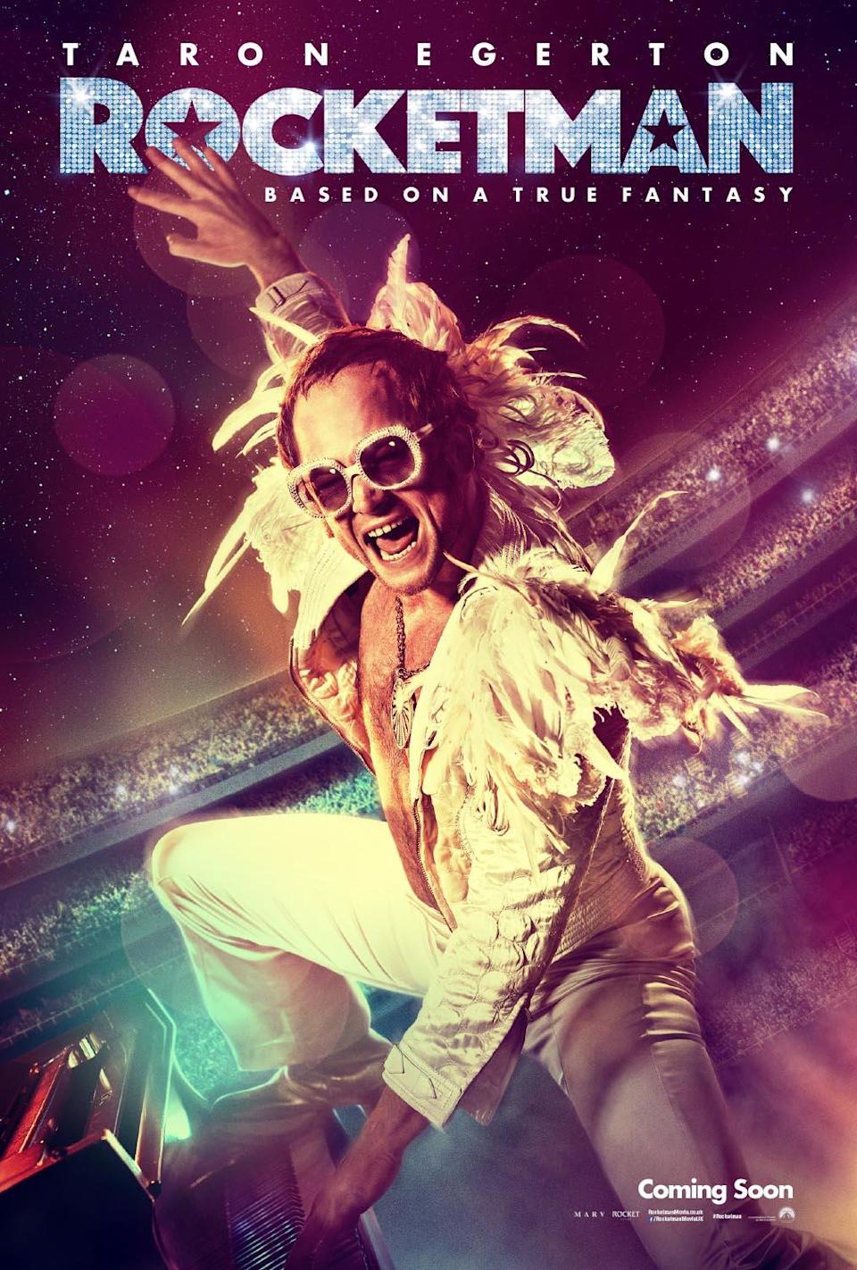 Visionary David LaChapelle has created some of the most iconic imagery in Elton John's career, and now turns his lens on the <i>Rocketman</i> film poster, with Taron Egerton as Elton John. (Paramount)
