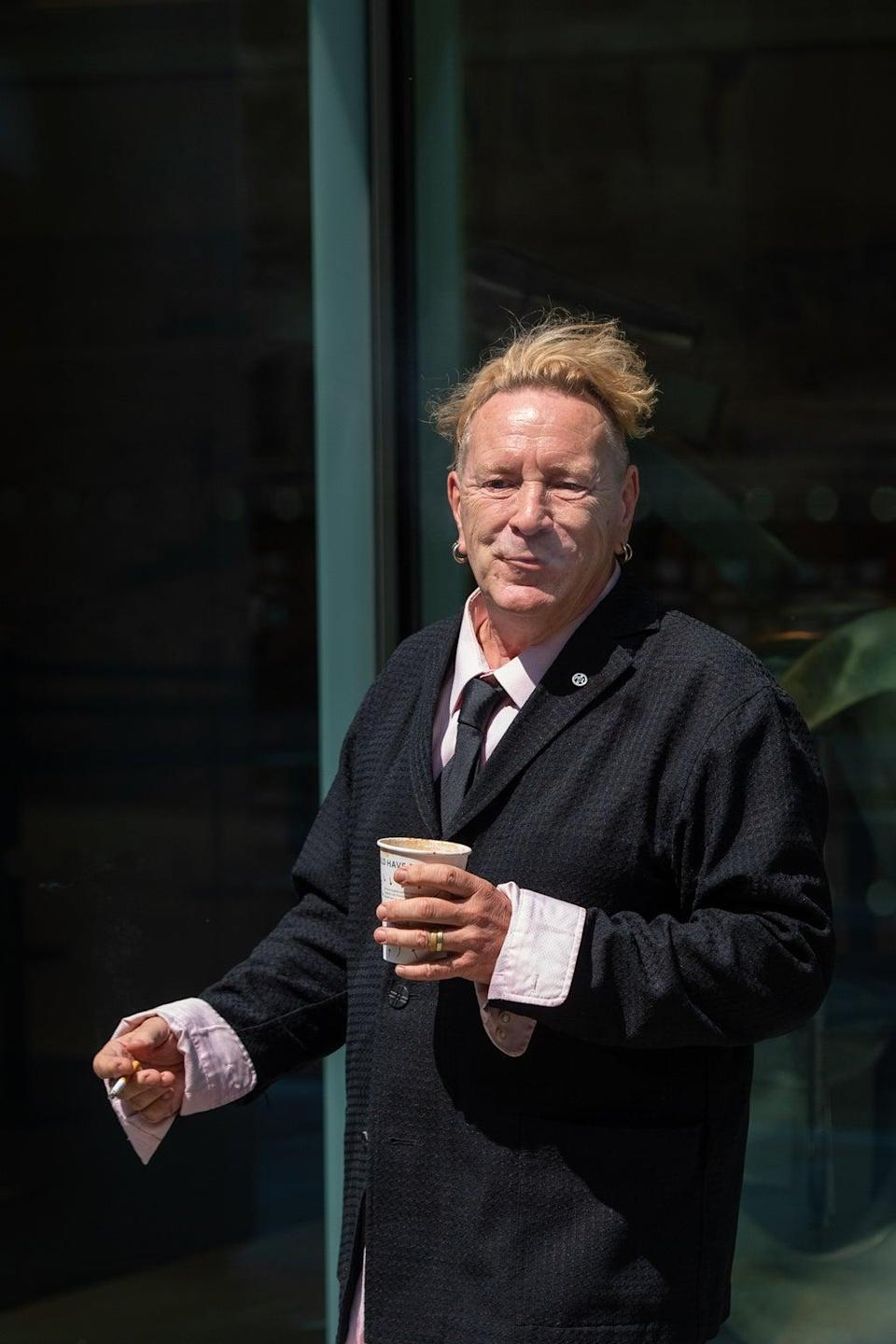 Johnny Rotten outside the High Court (Dominic Lipinski/PA) (PA Wire)