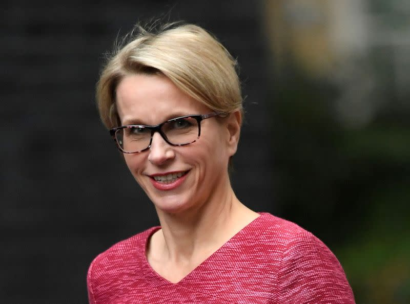 FILE PHOTO: GlaxoSmithKline CEO, Emma Walmsley, arrives for a meeting in Downing Street in central London