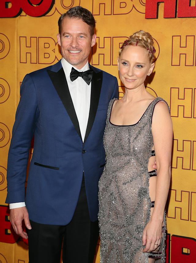 Anne Heche and James Tupper attend HBO's post-Emmy Awards reception on Sept. 17, 2017, in Los Angeles. (Photo by JB Lacroix/ WireImage)