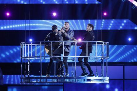 "Maluma performs ""Sin Contrato"" during the 2015 Latin Grammy Awards in Las Vegas"