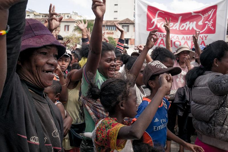 Opposition protestors have been occupying Antananarivo's main square for more than two months (AFP Photo/RIJASOLO)