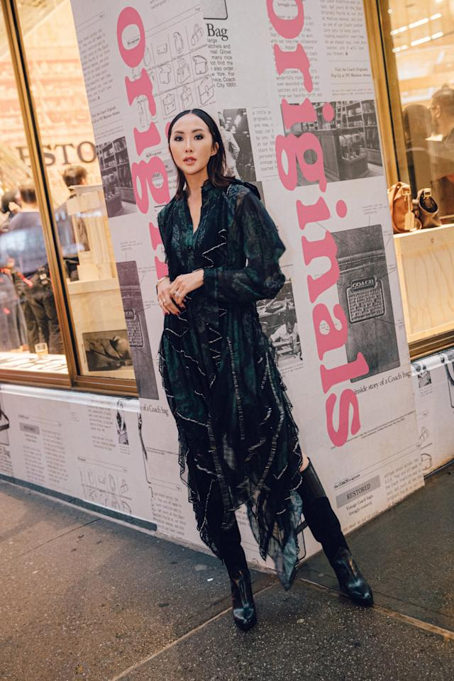 <p>Ahead of Coach's runway show on Sept. 10, the brand hosted an interactive pop-up shop in its Madison Avenue store in NYC. The event celebrated the launch of the Coach originals: a collection of handbags featuring vintage and archival Coach silhouettes. You'll be able to shop (or rent) these pieces at the pop-up like the Triple Dinky, which is made of three Coach Dinky shoulder bags sewn together. To check out what went down last night, we tapped Chriselle Lim to give us the scoop. Here, the entrepreneur and fashionista takes you behind the scenes of the party.<br></p>