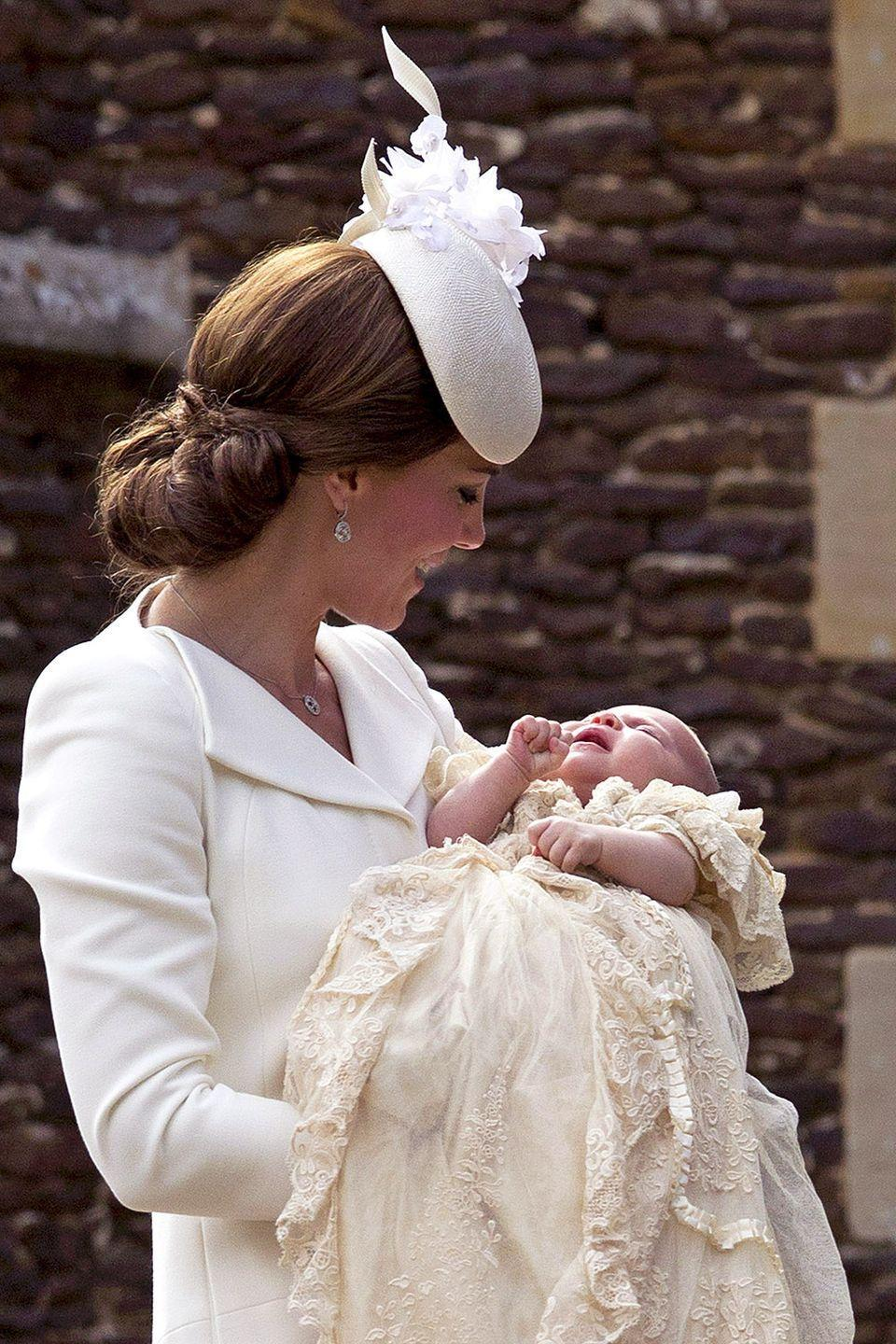 """<p>Aside from the <a href=""""http://www.cnn.com/2015/07/02/europe/royal-baby-princess-charlotte-christening/index.html"""" rel=""""nofollow noopener"""" target=""""_blank"""" data-ylk=""""slk:after-party"""" class=""""link rapid-noclick-resp"""">after-party</a>, of course. However, with Princess Charlotte the royal family <a href=""""http://www.dailymail.co.uk/news/article-3149651/Selfie-ban-lifted-new-people-s-Princess-Duke-Duchess-Cambridge-break-Royal-tradition-allow-public-snaps-Charlotte-s-Christening.html"""" rel=""""nofollow noopener"""" target=""""_blank"""" data-ylk=""""slk:broke this tradition"""" class=""""link rapid-noclick-resp"""">broke this tradition</a> and allowed the public to take selfies. </p>"""