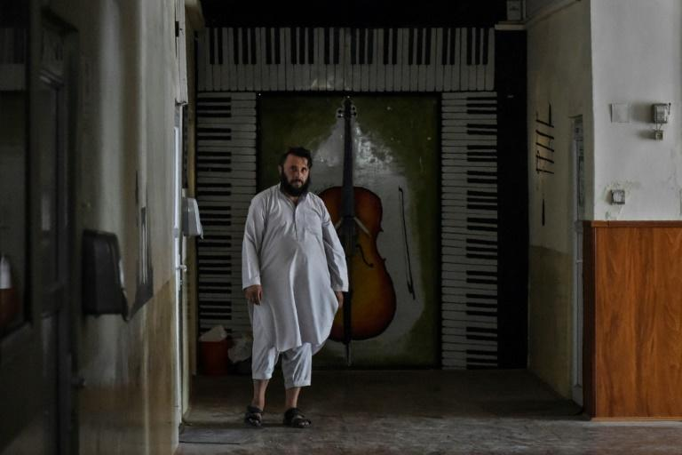 Taliban militants at the music college say they have orders to protect the instruments (AFP/WAKIL KOHSAR)