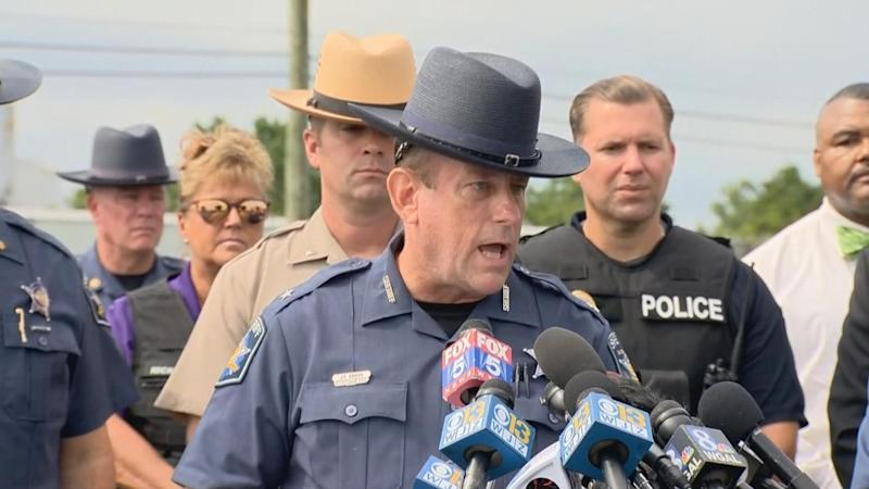 Maryland shooting: Harford County Sheriff Jeffrey Gahler addressed media. Source: Reuters