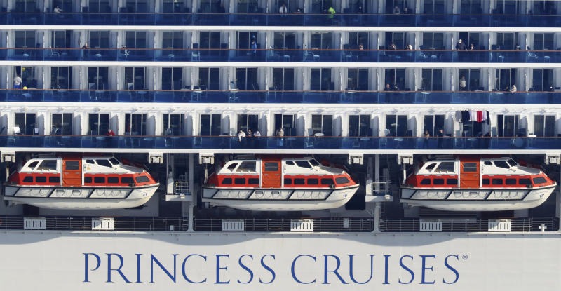 The Diamond Princess cruise ship off the coast of Japan is under quarantine after cases of coronavirus were confirmed