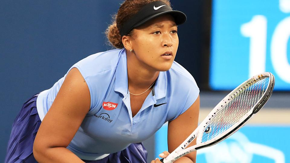 Naomi Osaka, pictured here in action at the Cincinnati Masters ahead of the US Open.