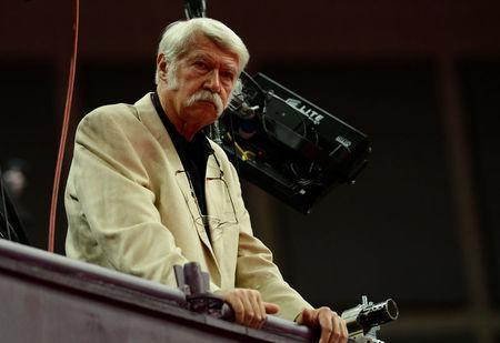 FILE PHOTO: Gymnastics coach Bela Karolyi watches the women's gymnastics qualification at the North Greenwich Arena during the London 2012 Olympic Games July 29, 2012. REUTERS/Dylan Martinez/File Photo