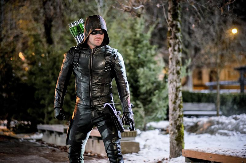 "Stephen Amell in Arrow - Series 05, Episode 14 ""The Sin-Eater"" (© Warner Bros. Entertainment, Inc.)"