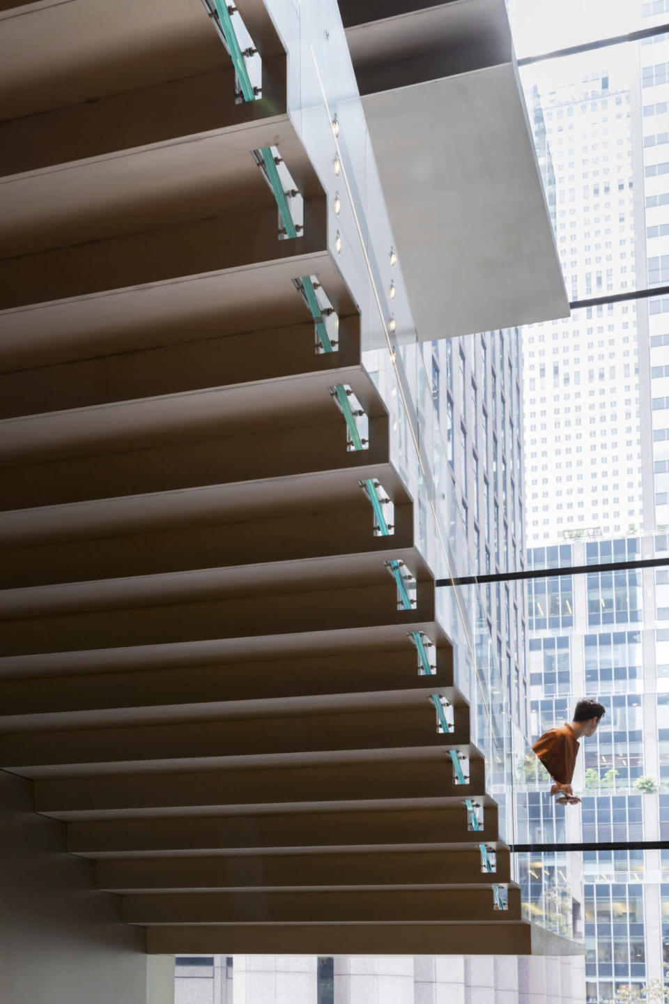 This undated image released by the The Museum of Modern Art shows an interior view of the Blade Stair Atrium, part of the renovation and expansion effort at MoMA in New York. As the Museum of Modern Art in Manhattan prepares to reopen following a $450 million, 47,000 square foot expansion, visitors can prepare for much more than much-needed elbow room there - and new juxtapositions of works meant to encourage broader perspectives and new narratives. (Iwan Baan/MoMA via AP)