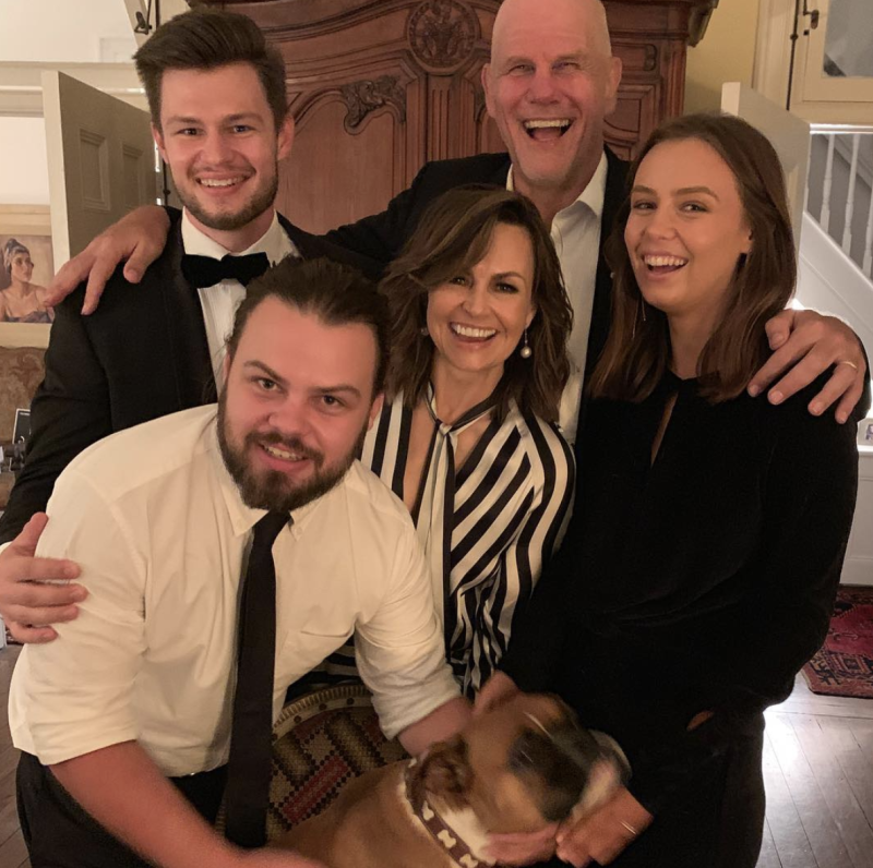 Lisa Wilkinson and her family; sons Louis and Jake, husband Peter FitzSimons and daughter Billi. Photo: Instagram/lisa_wilkinson.